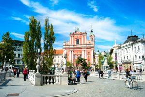 Ljubljana Preseren Square First Lady